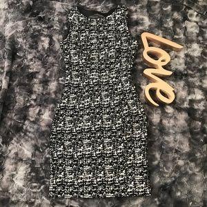 H&M Black and White Sheath Dress