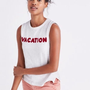 Madewell Vacation Tank XS White