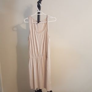 Beige dress with cinched waist. H&M large