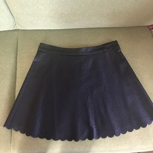 Club Monaco Faux Leather mini skirt