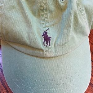 Pistachio green Polo baseball cap - adjustable NWT