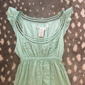 Max Studio Eyelet Neckline dress
