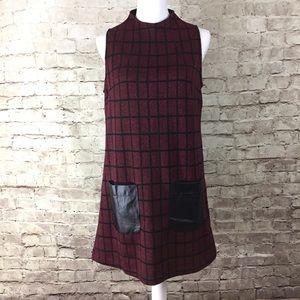 Dance & Marvel Red Plaid Dress