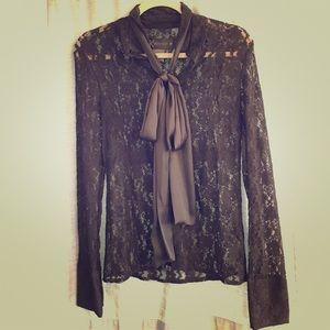 Kardashian Kollection black lace top