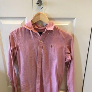 Ralph Lauren Red Slim Fit Button Down Size 2