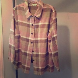 Warm comfortable shirt jacket