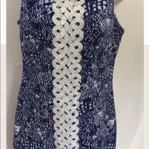 Lilly Pulitzer Blue and white shift dress