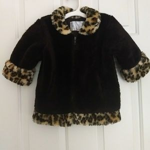Girls 2t furry winter jacket
