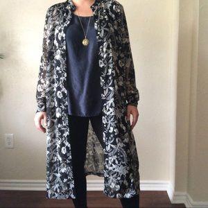 H&M plus size long sheer maxi dress