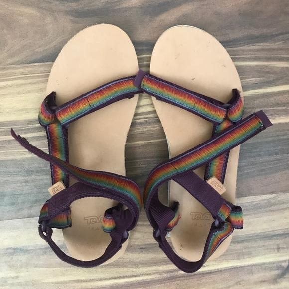 6090c4328ab2 Teva Universal Original Sandals Rainbow Stitch 🌈.  M 59eba1237fab3a8ea004cfaf