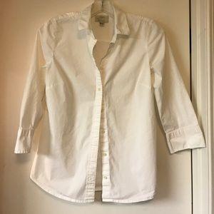J.Crew Stretch Perfect White Button Down Shirt