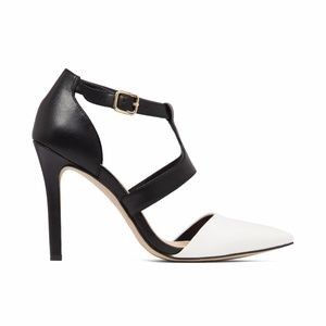 0f5ffd975c2f Jessica Simpson Shoes - Jessica Simpson Campsonne TStrap black white heels