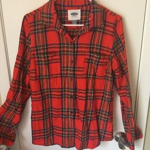 Old Navy plaid button-up sz M