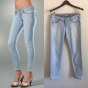 Paige Jeans white wash roxbury cropped ankle