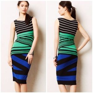 Anthropologie Bailey 44 Piped Stripes Column Dress