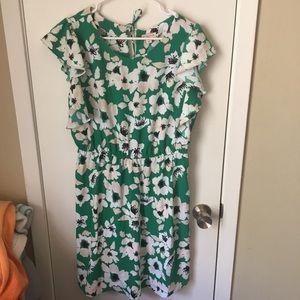 Merona green floral dress size medium