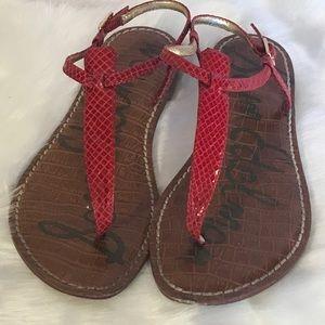 Sam Edelman thong sandals red 7 1/2 M