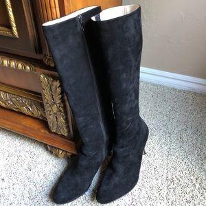 Shoes - La Fenice Venezia tall black suede boots-