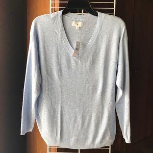 Lou&Grey light blue acrylic/nylon knit sweater