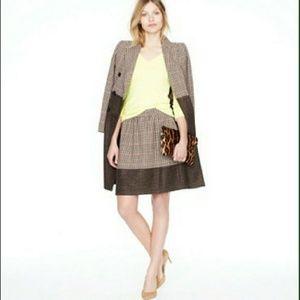 J. Crew Wool Houndstooth Plaid Mini Skirt 4