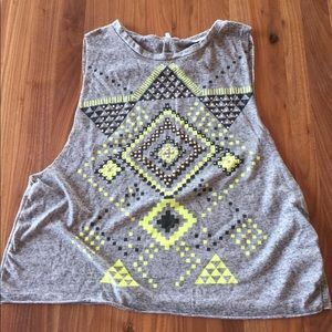 Charlotte Russe Tribal Muscle Crop