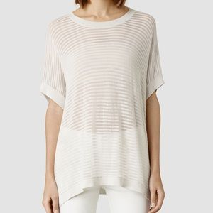 NEW ALLSAINTS LADDER TEE TOP SIZE SMALL