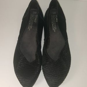 TOM'S LEATHER SUEDE FLATS