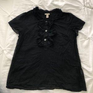 J. Crew Swiss dot blouse