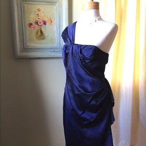 Dark Blue Karen Millen Prom Dress Sz 12