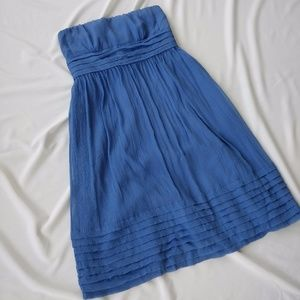 J Crew Juliet Hazel Blue Silk Chiffon Dress sz 10