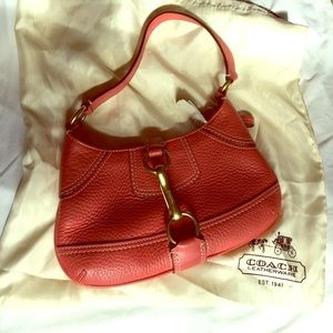 Coach Red Pebble Leather Purse