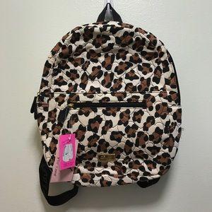 Betsey Johnson Cheetah Hoodie & Tablet Backpack