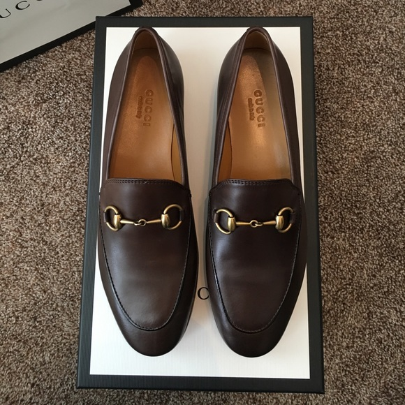eddde254a50 Brown Gucci Jordaan Loafers