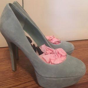 Jessica Simpson light blue heels
