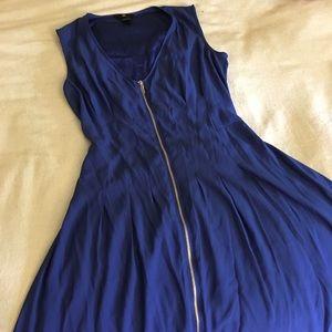 H&M Darling Royal Blue Zip-up Dress