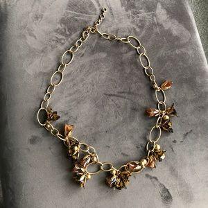 J crew tortoise shell necklace