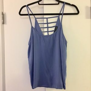 Strappy Topshop Tank with Cutout Back
