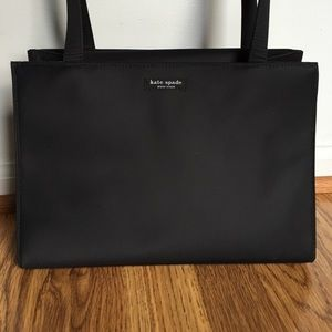 Kate Spade Black Vinyl Canvas Tote
