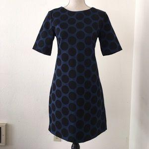 Stretch 3/4 sleeve large dot dress