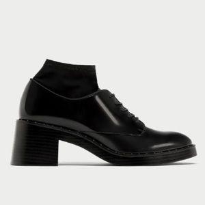 Zara high heel bluchers with sock detail