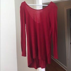 Zara scoop back long sleeve knit