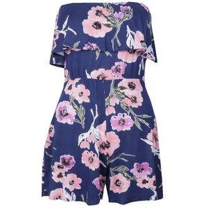 Boho Floral Jersey Playsuit Romper Jumpsuit NwT