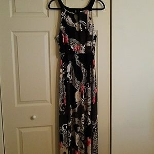 Black patterned maxi dress