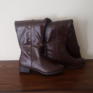 Brand new, wide calf Just Fab over the knee boots