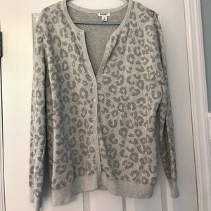 Old Navy leopard print cardigan
