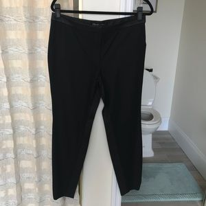 Elizabeth and James Black Pants with Leather