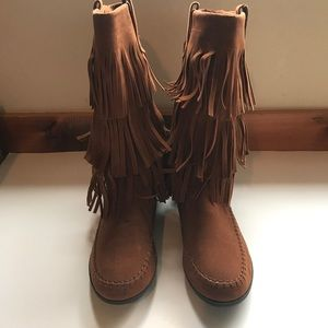 Just Fab Tall Moccasin Boots