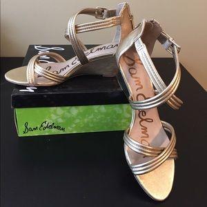 New Sam Edelman Gold Sandals