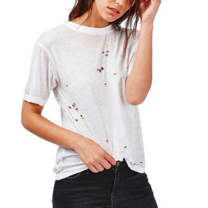 Topshop Distressed Tee from Nordstrom 0/2