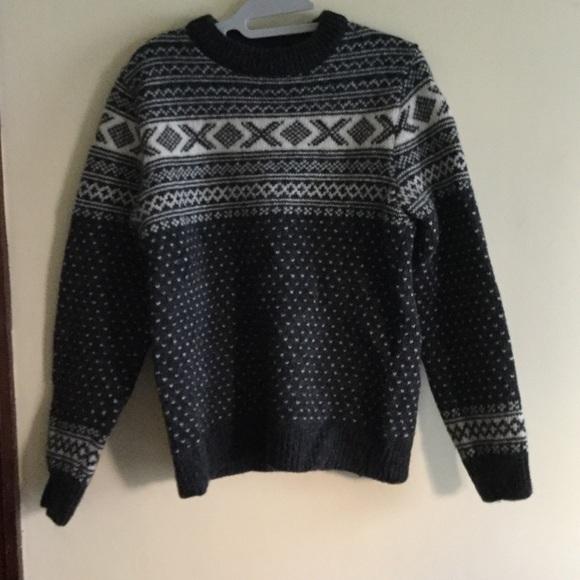 Ll Bean Sweaters Ll Bean Mens 100 Wool Norwegian Sweater Sz S